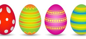 10 colourful easter eggs